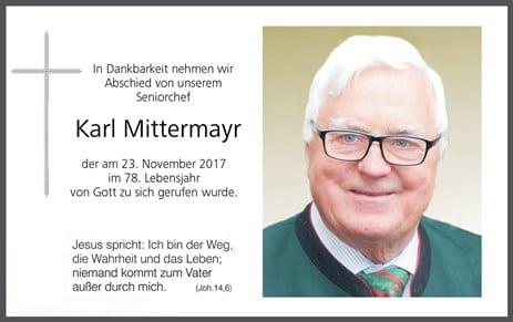 Abschied von Karl Mittermayr