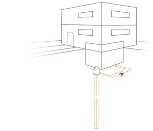 Schema der Sole-Tiefensonde