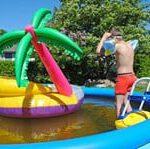 Pool mit einem Luftring