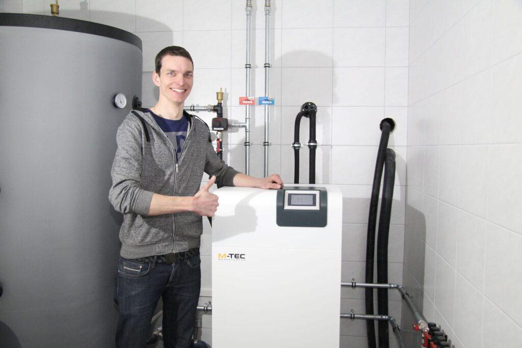 referenz dieter azesberger technikraum wärmepumpe co2tiefenbohrung