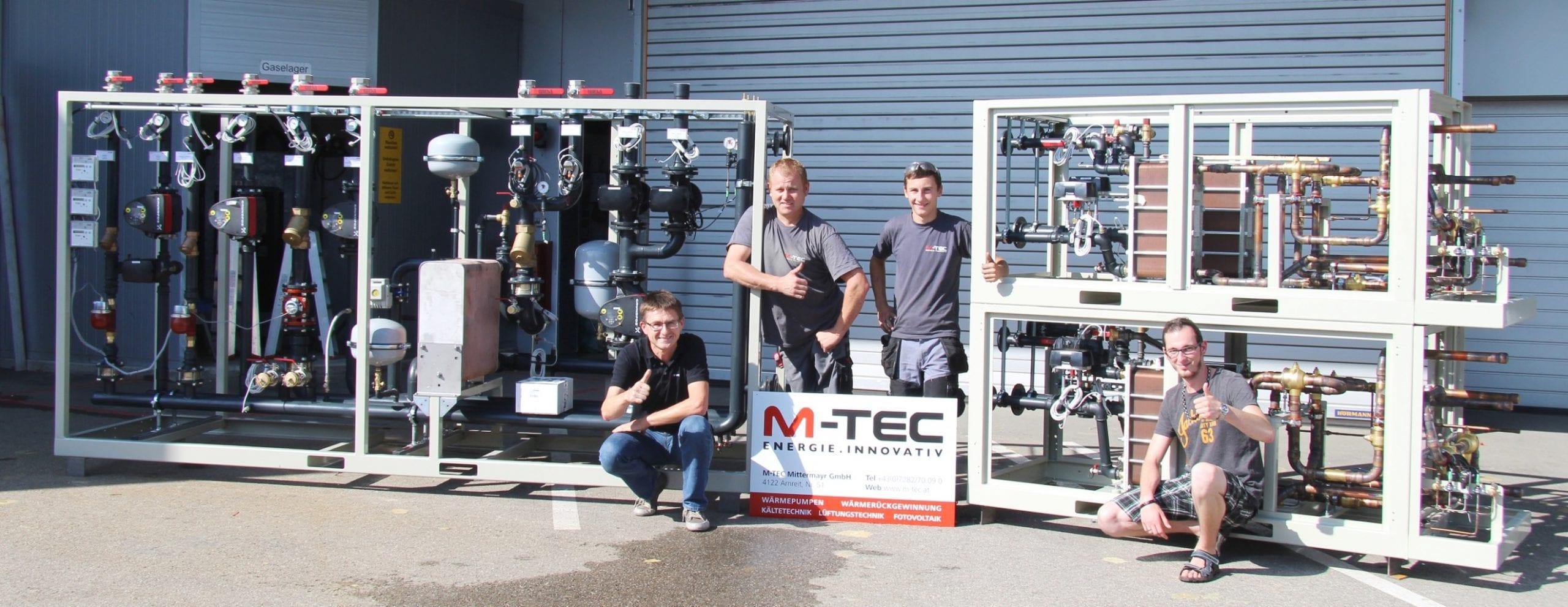 Mit dem Wärme-Kälte-Verbund von M-TEC Abwärme effizient nutzen