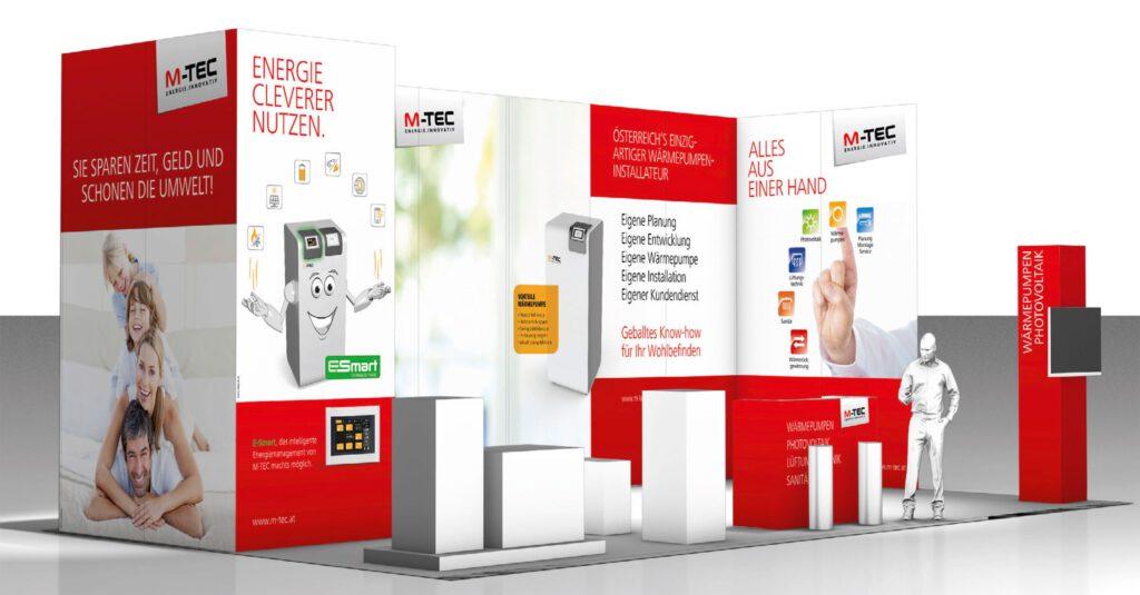 M-TEC Messestand auf der Energiesparmesse Wels
