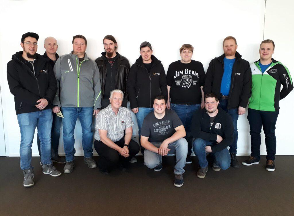 Teilnehmer des Staplerkurses bei M-TEC im März 2019