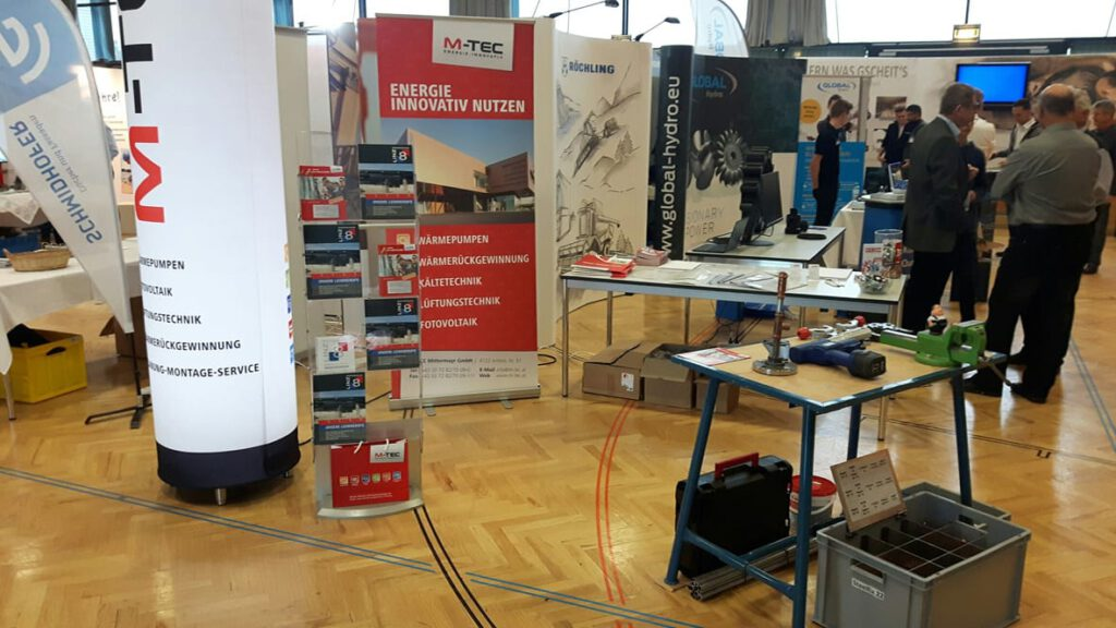 M-TEC Stand bei Lehrlingsmesse in Rohrbach