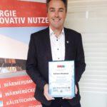 Silberne Ehrennadel der Mechatroniker Innung für Klemens Mittermayr, GF M-TEC Energie.Innovativ GmbH