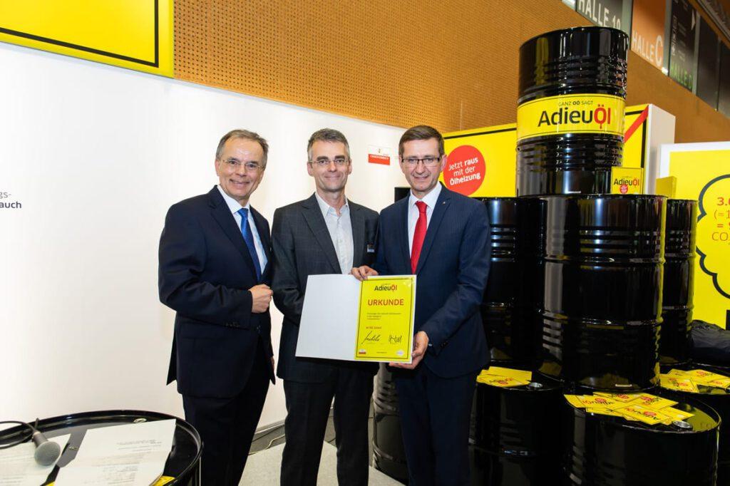 M-TEC vom Energiesparverband mit AdieuÖl ausgezeichnet