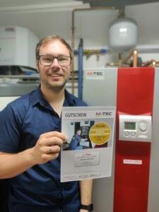 2. Preis, M-TEC Kundenbefragung 2021, kostenlose Wartung der Wärmepumpenheizung